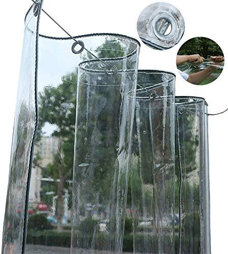 LXXTI dekzeil, 0,3 mm, transparant, waterdicht, PVC, transparant, scheurvast, voor tuin, buiten