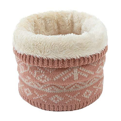 LiuliuBull W Bufanda de impresión de Mujeres de Invierno más Terciopelo Hombres Bufanda Espesar acrílico Collar Bufandas niños niñas Cuello Bufanda (Color : Pink)