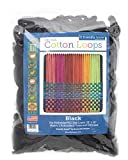 Harrisville Designs Friendly Loom Potholder Cotton Loops 10 Inch Pro Size Loops Make 2 Potholders, Weaving Crafts for Kids and Adults-Black