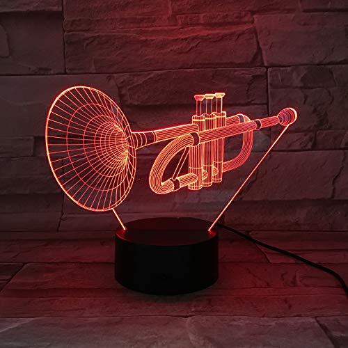Musik Note 3D LED Nachtlicht Tischlampe Tisch Lampara Hologramm Atmosphäre Kind Kinder Nachtlicht Schlafzimmer DekorationLed Nachtlicht Licht