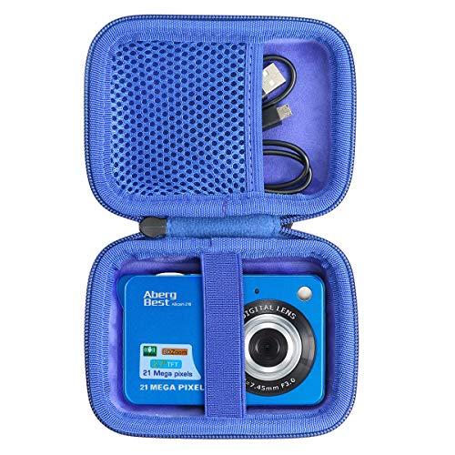 co2CREA Duro Viajar Caso Cubrir para Andoer/Youmeet/GordVE/CamKing/Compactas Cámaras Digitales AbergBest 21 2.7 LCD Recargable HD Cámara Digital (Azul)(Caja Solo)