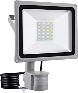 Induction LED Flood Light,10W 20W 30W 50W 100W LED Motion Sensor Flood Lights,Outdoor Intelligent Light,Waterproof IP65,Super Bright PIR Security Lights,for Garden,Yard,Road,Square (Cold White, 100W)