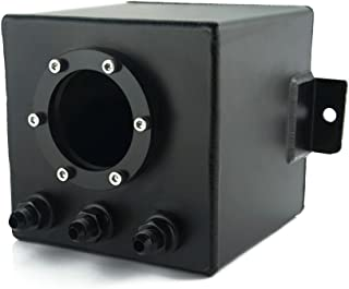 Heinmo 2L Car Aluminium Fuel Swirl Surge Pot Tank Alloy Surge Tank Universal Black