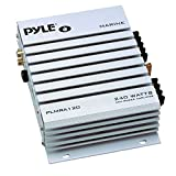 Pyle Hydra Marine Amplifier - Upgraded Elite Series 240 Watt 4 Channel Audio Amplifier - Waterproof,...