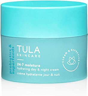 TULA Probiotic Skin Care 24-7 Moisture Hydrating Day and Night Cream | Moisturizer for Face, Anti Aging Face Cream, Contains Watermelon and Blueberry Extract | 1.7 oz.