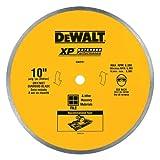DEWALT Diamond Blade for Ceramic or Tile, Wet Cutting, Continuous Rim, 5/8-Inch Arbor, 10-Inch (DW4761)