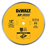 DEWALT Diamond Blade for Ceramic or Tile, Wet Cutting, Continuous Rim, 5/8-Inch Arbor, 10-Inch (DW4761) , Yellow