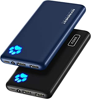 [2 Pack] INIU Portable Charger, Slimmest & Lightest Triple 3A USB C High-Speed 10000mAh Power Bank, Phone External Battery...
