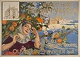 Vintage de viaje ESPAÑA para palma de Mallorca Grand Hotel, temporada 1902250gsm brillante Art Tarjeta A3reproducción de póster