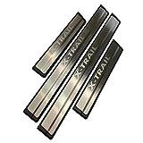 protector de entrada 4 piezas rendimiento estilizado pegatina para proteger platos de patada cubierta de placa antiara/ñazos fibra de carbono Cubiertas de pedal de coche para umbral de puerta