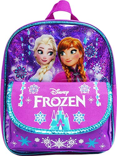 Disney Frozen Toddler Backpack - Small 10 inch Backpack - Pine Trees
