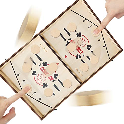 AOLUXLM Giochi da Tavolo Adulti Fast Sling Puck Gioco Tavolo Hockey per Bambini Parent-Child Interactive Toy Party Game for Adults