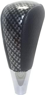 Pursuestar Black Leather Carbon Fiber Gear Shift Knob for Toyota RAV4 Land Cruiser Lexus Sienna Corolla Camry Sequoia Estima Crown Mazda Replacement M8x1.25