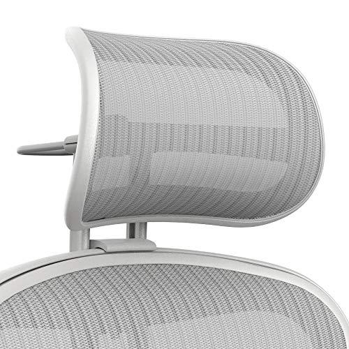 Atlas - Reposacabezas con suspensión activada para Silla Aeron Herman Miller, Accesorio ergonómico optimizado para Mejorar la Postura (Mineral remasterizado)