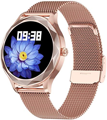 Reloj inteligente para mujer con reloj inteligente y seguimiento de actividad física para mujer con recordatorio de ciclo fisiológico,