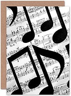Fine Art Prints Musical Notes Sheet Music Greetings Card