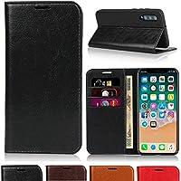 LG style L-03K 手帳型ケースL03K手帳型 LG style L-03K カバー L03K スマホケース L03K 携帯カバー Jaorty牛革 収納ポケット スタンド機能 大人っぽい 手作りデザイン オシャレ4色-ブラック
