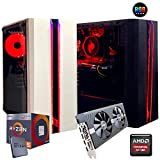 Pc gaming ryzen 5 2600 3,9GHz Max,Scheda video Rx 580 8gb, Ram Ddr4 8 Gb,Ssd M.2 256 Gb, Ryzen 5,Windows 10 Computer da gaming assemblato Pc desktop ryzen