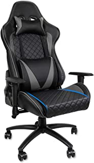 Gaming Chair 500LBS Capacity Oversized Design Racing Office Chair Computer Desk Game Chair Ergonomic Office Chair Desk Chair with Removable Memory Foam Pillow and 2D Adjustable Arms- Gray