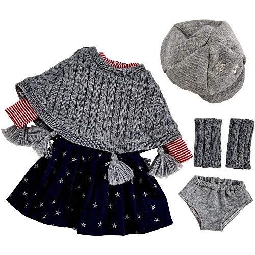 Käthe Kruse 0141810 Schul Outfit S 39 -41 cm, grau