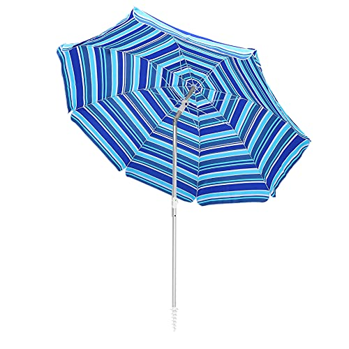 Ralawen 6.5ft Beach Umbrella