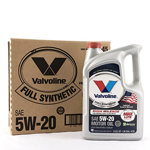 Valvoline 849645 5W-20 Full Synthetic Motor Oil (with MaxLife Technology), 480. Fluid_Ounces, 3 Pack