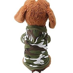 Angelof Hoodie De Chien, Chien De Sport, Manteaux Pour Chiens Sweatshirt Camo Camouflage Costume De Sweats à Capuche