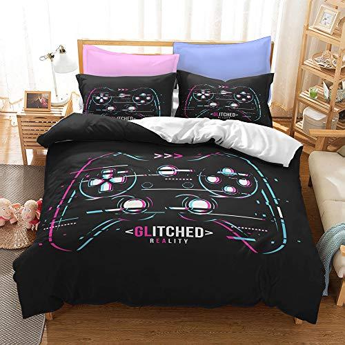 Proxiceen Juego de ropa de cama de Gamepad, funda de edredón para niños, juego Joystick con fundas de almohada