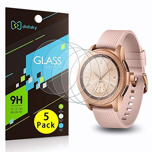 Didisky Vetro Temperato per Samsung Galaxy Watch 42mm, [ 5 Pezzi] Pellicola Protettiva [Tocco Morbido ] Facile da Pulire, Facile da installare, Trasparente