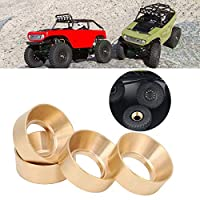 RC Car Wheel Counterweight, Durable Anti‑Rust Brass Wheel Counterweight, 4 PCS for SCX24 AXI00002 Boys Axial SCX24 90081 Toys