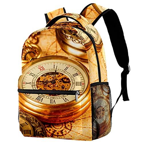 Business-Laptop-Rucksack Klassische Uhren Uhren wasserdichte Tasche Für Damen Mädchen, Lässiger Wander-Reise-Tagesrucksack 29.4x20x40cm