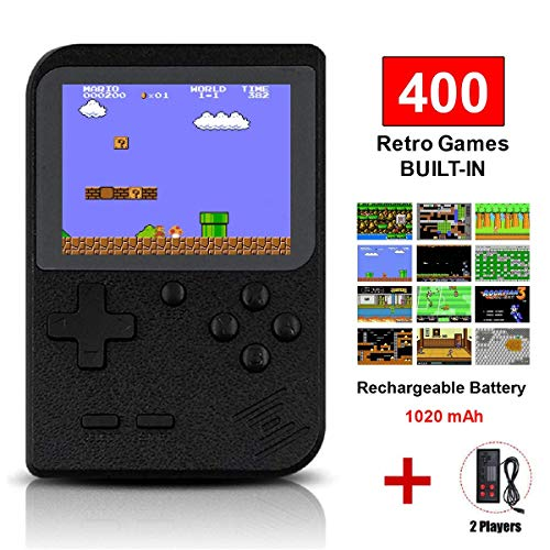 TAPDRA Handheld Game Console, Retro Game Console with 400 Classic Games 3.0 inch Screen Portable Supporting 2 Player, Good Gifts for Kids