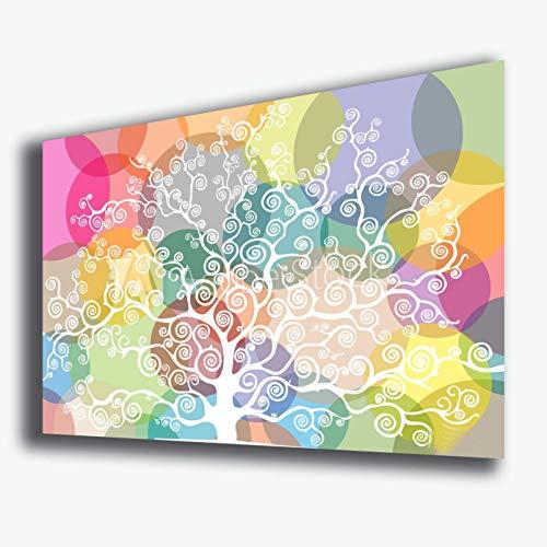 Quadro moderno astratto ALBERO DELLA VITA 30x50 cm multicolor arte moderna STAMPA SU TELA canvas Quadri Moderni Cucina Salotto Soggiorno Camera da letto
