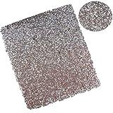 20CM*34CM Tessuto Glitter Lucido Faux Cuoio Fogli per Fiocchi Decorazione Artigianato Materiali Borsa Scarpe Accessori 6 argento.