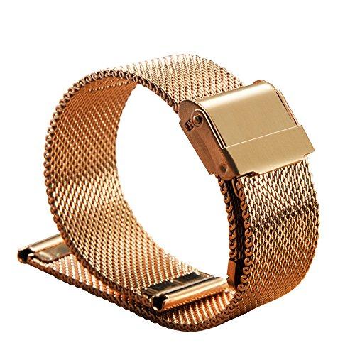 XLORDX XL001797 - Cinturino per orologio, Pelle, colore: ORO ROSÉ