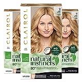 Clairol Natural Instincts Semi-Permanent, 9 Light Blonde, Sahara, 3 Count