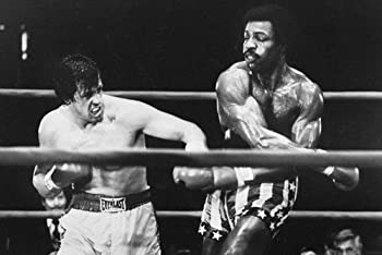 Sylvester Stallone Boxing Carl Weathers as Apollo Creed in Rocky 24x36 Movie Poster