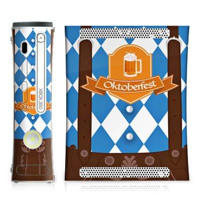 DeinDesign Skin kompatibel mit Microsoft Xbox 360 Aufkleber Folie Sticker Oktoberfest Lederhose München