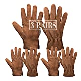 Leather Safety Work Gloves Gardening Carpenter Thorn Proof Truck Driving for Mens and Womens Waterproof heavy duty