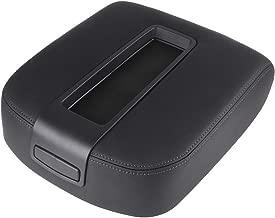 cciyu Armrest Center Console Box + Base Black Armrest Covers Replacement fit for 2007-2013 Chevrolet Suburban GMC Sierra Black