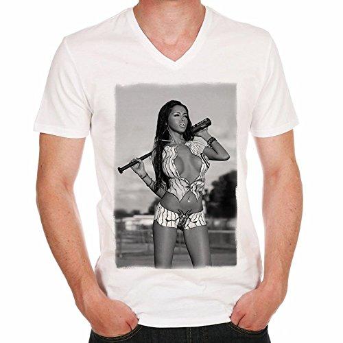 One in the City Nabilla Benattia Baseball T-Shirt,Cadeau,Homme,cŽlŽbritŽ,Blanc, XL,t Shirt Homme