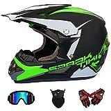 Wansheng Motocross-Helm für Erwachsene MX-Motorrad-Helm-Roller ATV-Helm-Straßenrennen D.O.T Zertifiziert Fox blau
