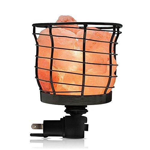 Himalayan Glow 1801B Basket Style Night Light, Wall Plug in u0022360u0022 Rotatable