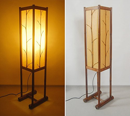 XIN Home vloerlamp, staande led, landelijke woonkamer decoratie vloerlamp creatief licht woonkamer eenvoudige lampen oogbescherming verticale tafellamp koffie
