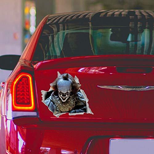 DONL9BAUER Pennywise Car Decal. Clown It Decal. Car Bumper Sticker. Car Accessories. Car Window Decal. Horror Car Decal. Car Decal for Man O55