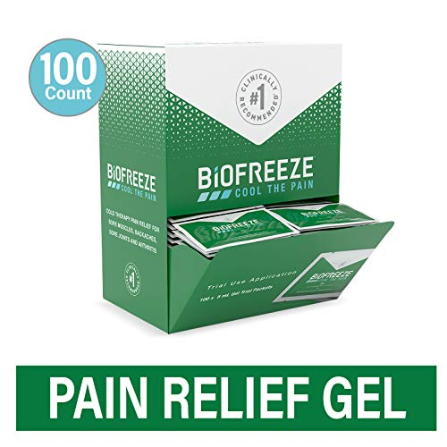 Biofreeze On-the-Go Pain Relief Gel, 5 mL Packets, 100 Count, Green (Packaging May Vary)