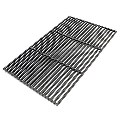 Wiltec Gusseisen Grillrost eckig 54 x 34 cm massiv für Holzkohlegrill Gasgrill