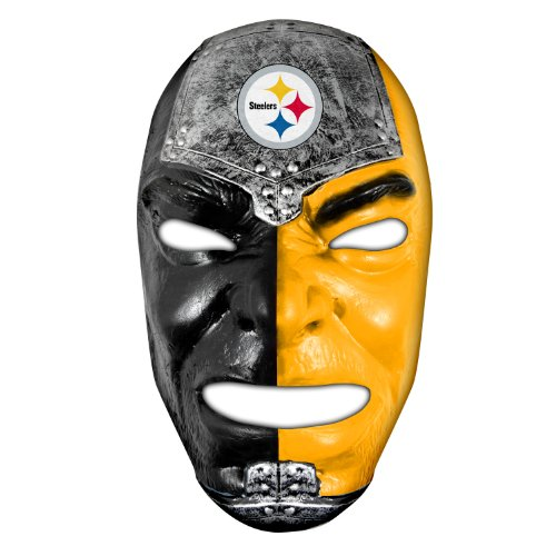 Franklin Sports NFL Pittsburgh Steelers Fan Face Mask - Team Fan Masks for NFL Football Games and Tailgates - Sports Fan Face Mask - Face Paint Masks