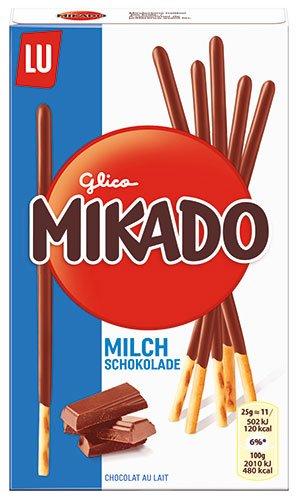 6x Mikado - Milchschokolade, Sticks mit Schokolade - 75g
