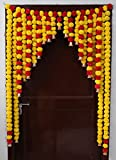 JH Gallery Presents Decorative Artificial Marigold Fluffy Flowers Toran Hanging witch widely used in worldwide to wedding decorations, haldi decoration items for marriage, birthday parties decorations, anniversary celebration decoration, makar sankra...
